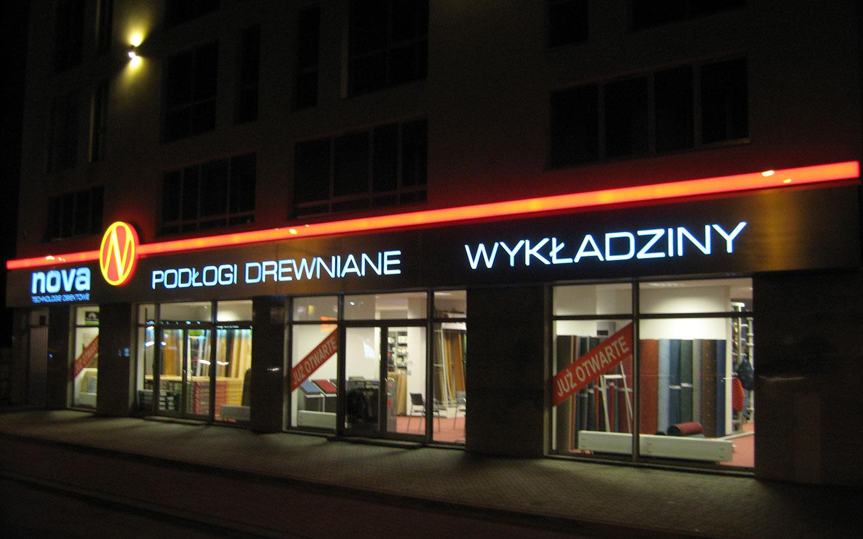 Kaseton podświetlany - Nova Warszawa - Oznakowanie budynku